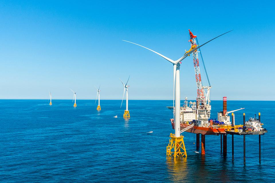 Block Island offshore wind farm construction