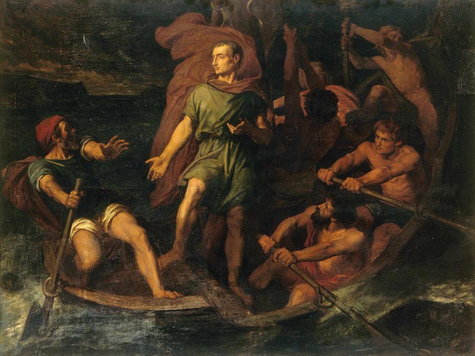 Caesar dans la barque
