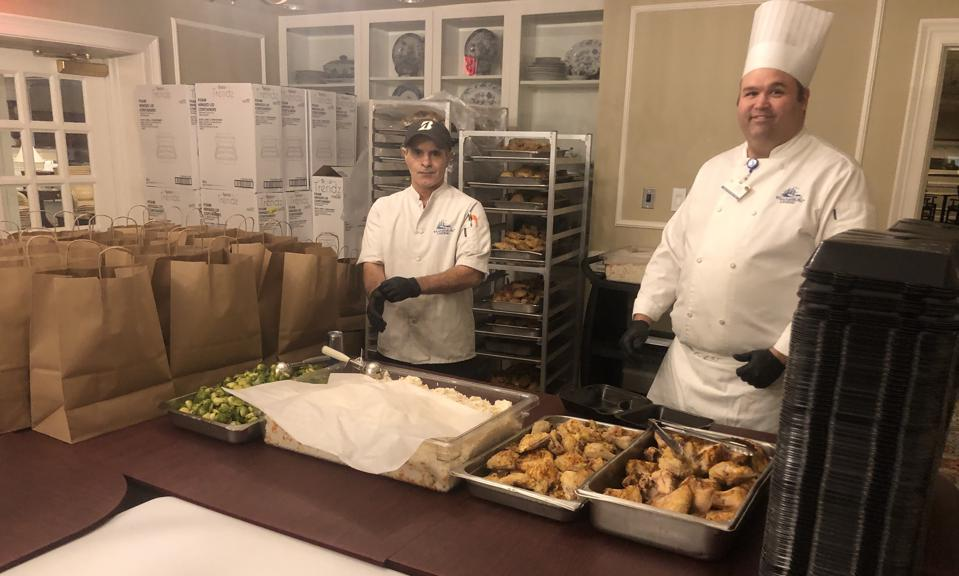The unsung heroes of the coronavirus crisis are food service workers at Colonial Williamsburg. They are preparing meals for delivery to residents in quarantine.