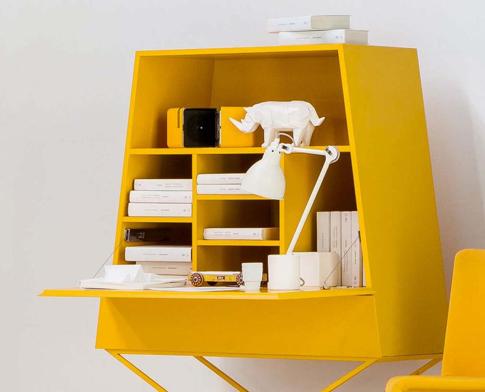BONALDO Summer Bookcase is ideal for organizing work papers and can also double as a writing desk.