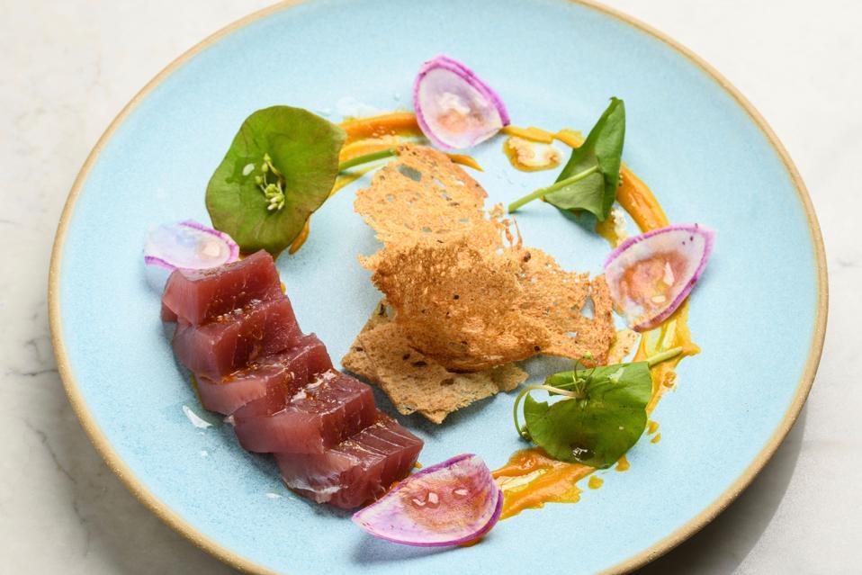 beauty trends Brix Restaurant, Napa Valley - Ahi tuna crudo