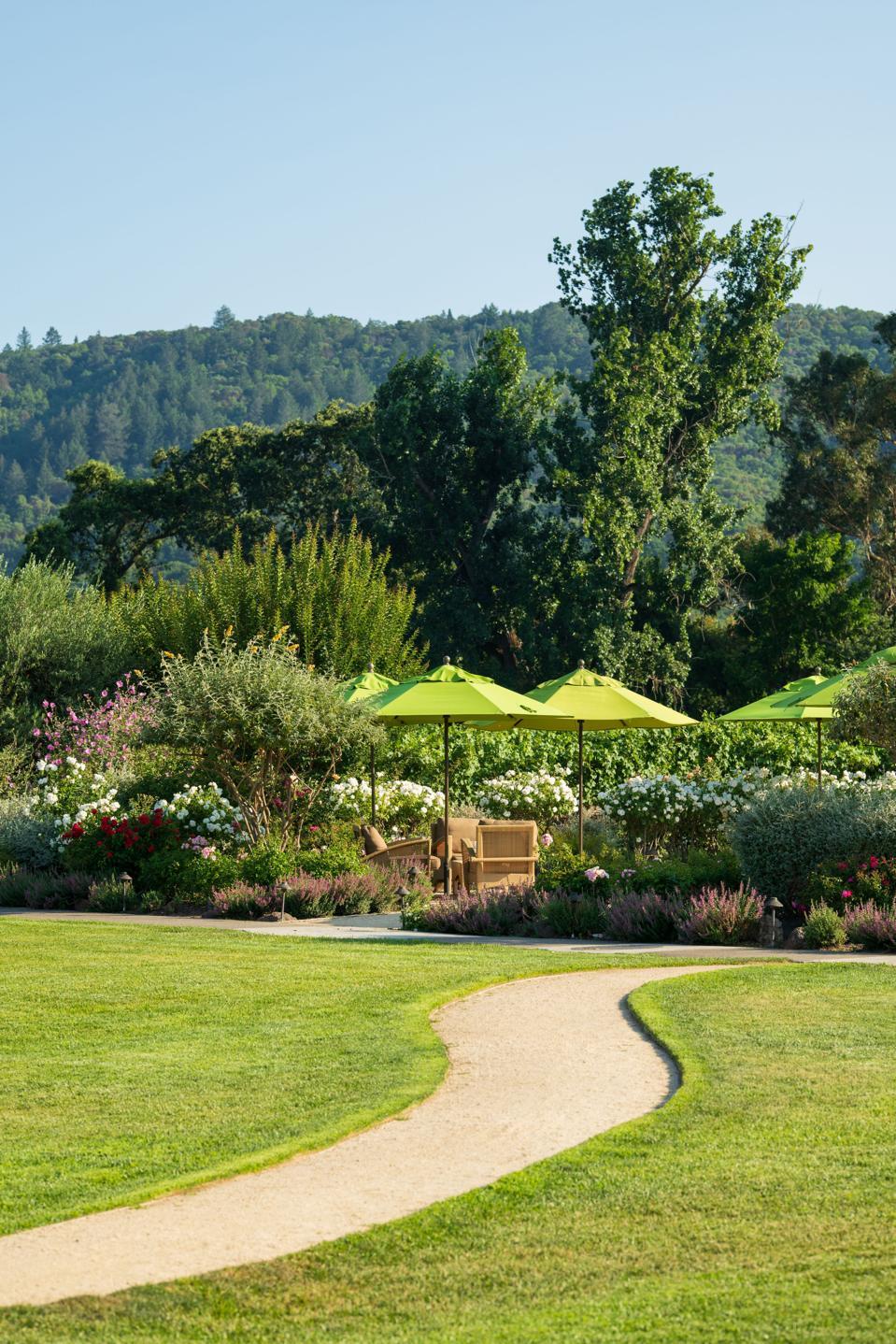 beauty trends The garden at Brix Restaurant, Napa Valley, California