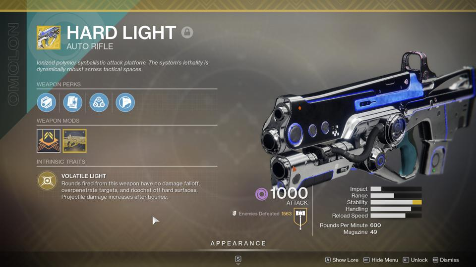 How To Get Hard Light And Its Catalyst, The 'Destiny 2' Crucible-Dominating Exotic