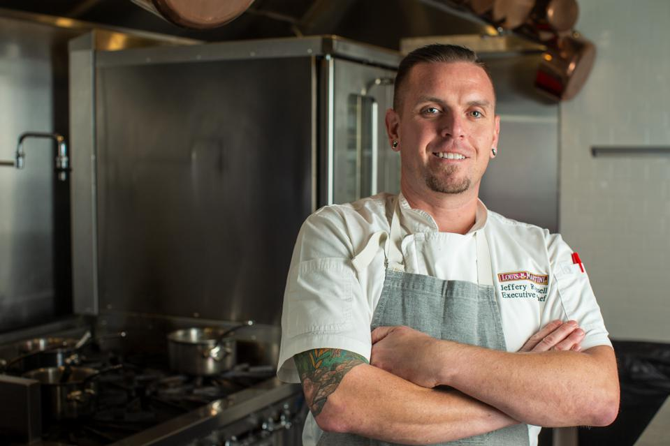 beauty trends Executive Chef Jeffrey Russell at Louis M. Martini Winery