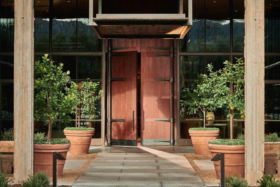 beauty trends Exterior door to Louis M. Martini Winery, Napa Valley