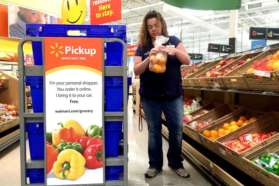 April Styers, a personal shopper for the Walmart pickup program