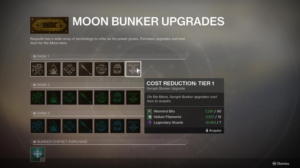 The Best Order To Upgrade Destiny 2's Moon Rasputin Seraph Bunker