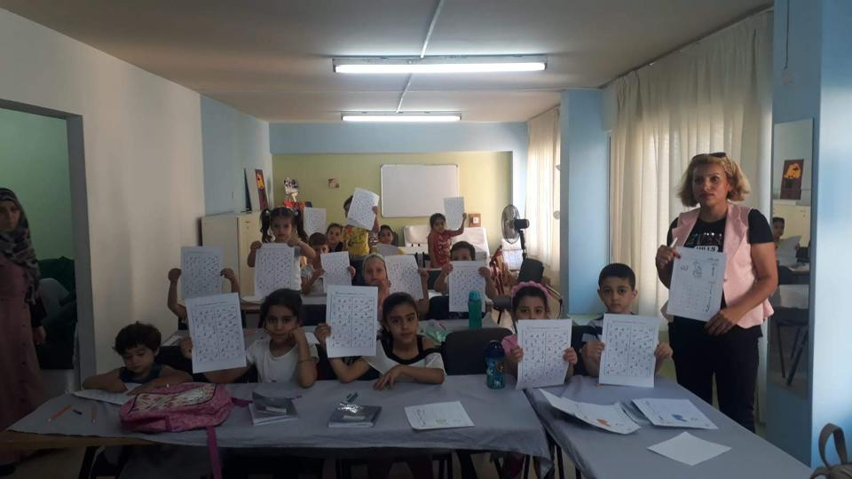 Children learning at the Dignity Center at Nicosa, Cyprus.