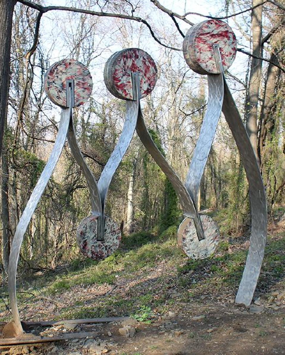 Monumental aluminum sculpture by an unidentified artist