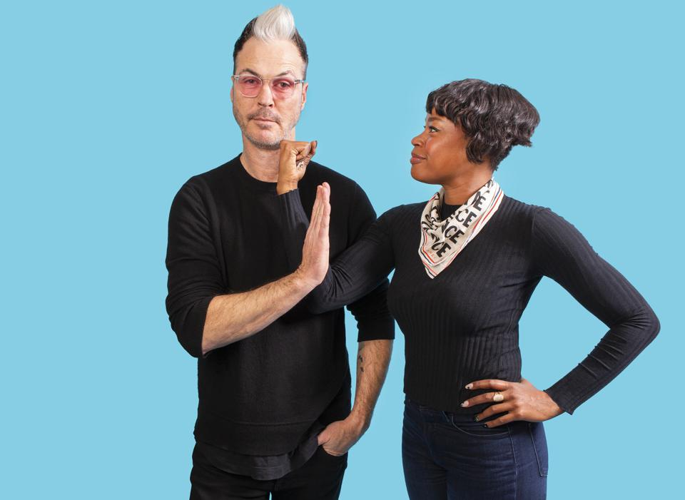 Michael Fitzpatrick and Noelle Scaggs of Fitz and The Tantrums talk about their fourth studio album All The Feels (Photo by Barry Brecheisen)