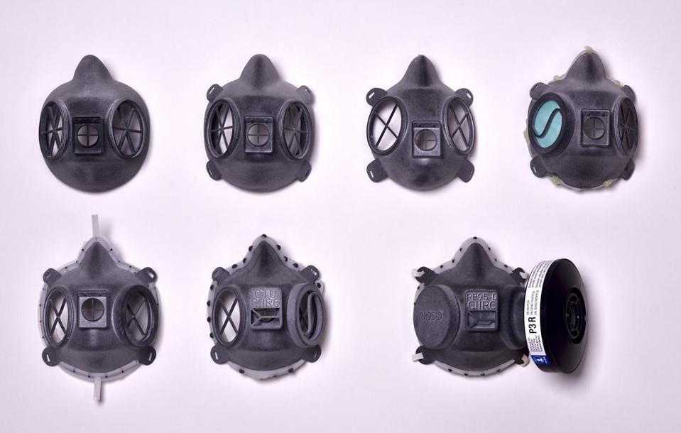 HP 3D Printed Masks for COVID-19 response; Designed by research institute CIIRC CVUT