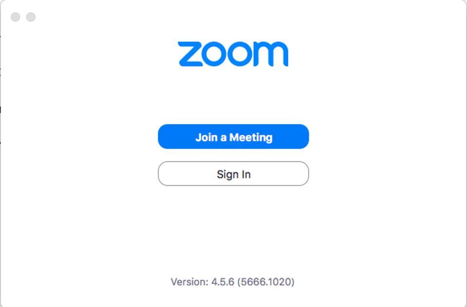 Screenshot of Zoom application on desktop.