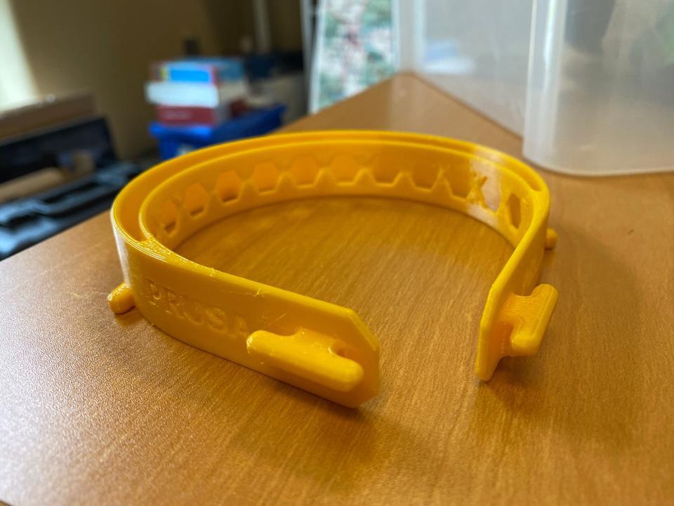 TTU Ismail Fidan Prusa Face Shield Parts 3D Printed
