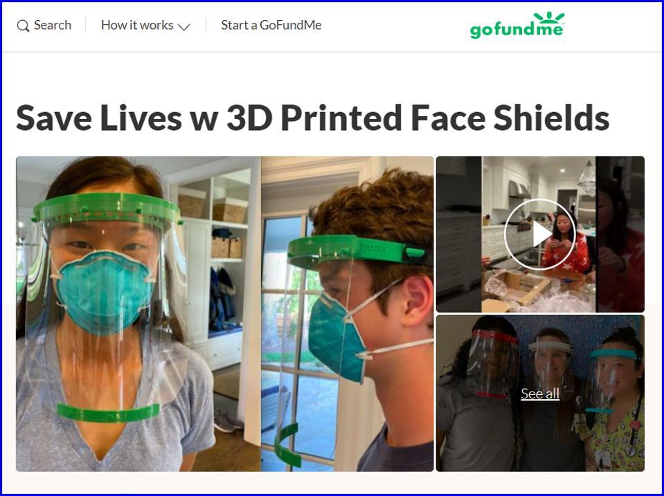 GoFundMe Screen 3D Printing Shields