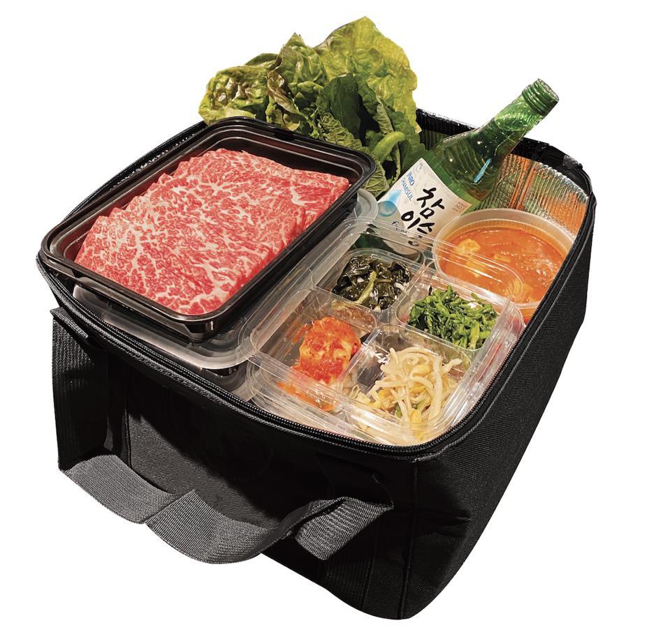 Samwon Garden Korean BBQ's care package