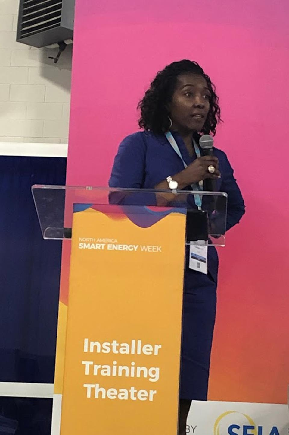 Paula Glover Solar Power Intl. 2019 North America Smart Energy Week.