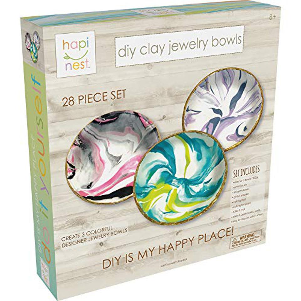 Hapinest DIY Clay Jewelry Dish Arts and Crafts Kit