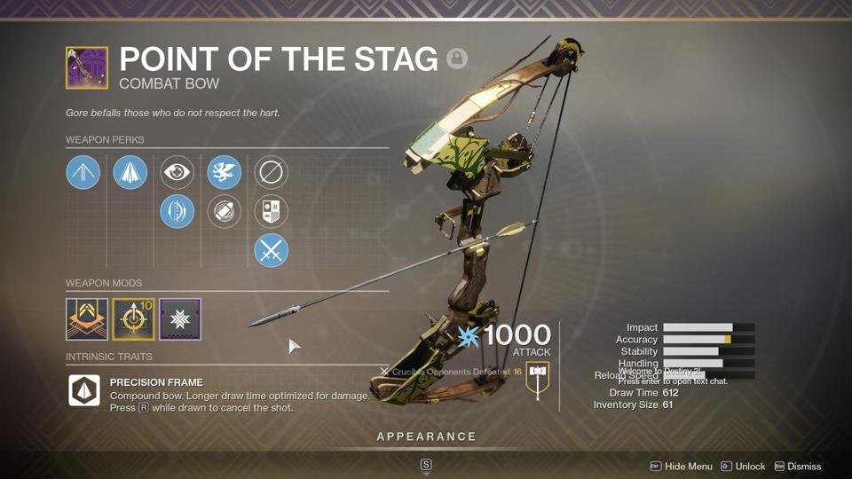 Is 'Destiny 2' Pinnacle Bow Point Of The Stag Worth Grinding Iron Banner For?