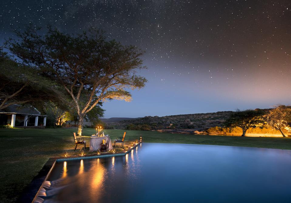 Dine under the stars at Bushmans Kloof in South Africa