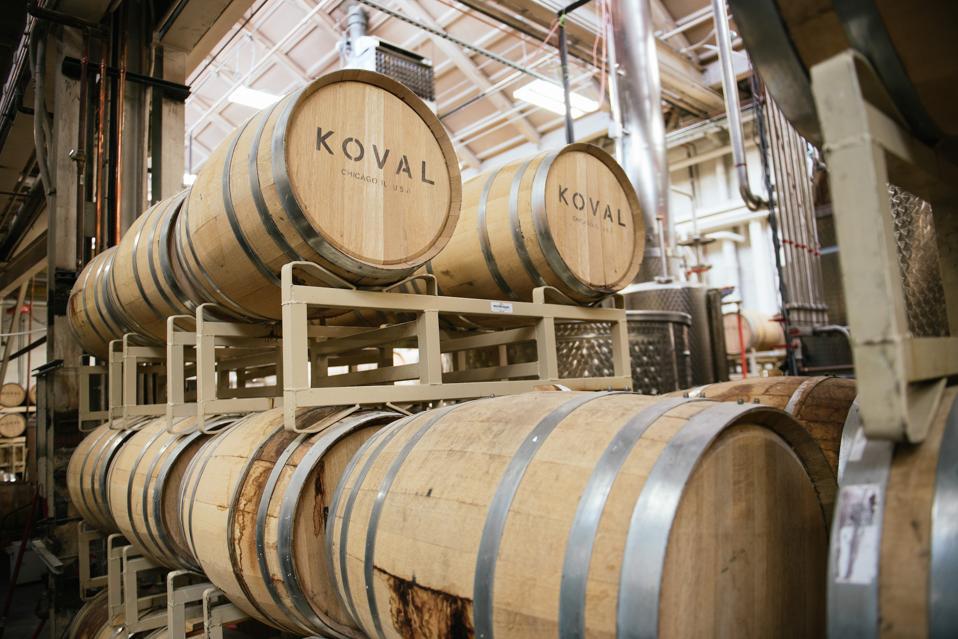 KOVAL Distillery barrels