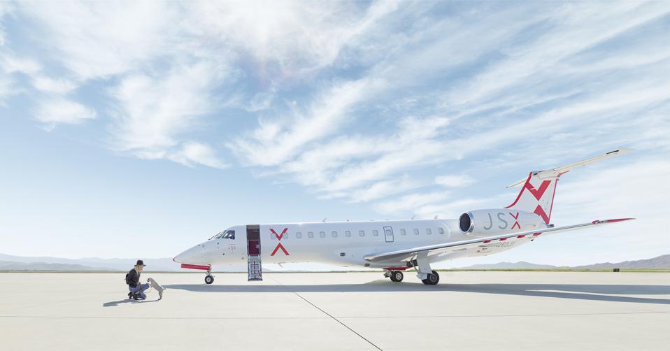 JSX private charter flight luxury travel airplane jet