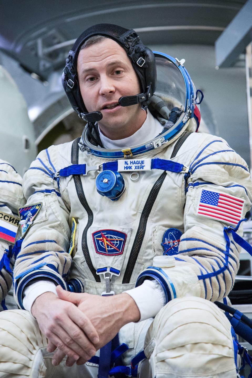 Nick Hague of NASA at the Gagarin Cosmonaut Training Center.