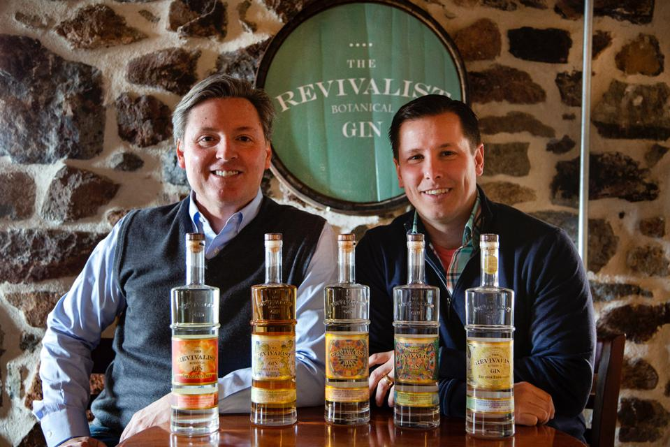 Don (left) and Scott Avellino, of Brandywine Branch Distillery, have been working to help with the hand sanitizer shortage. PHOTO: Pete Breslow