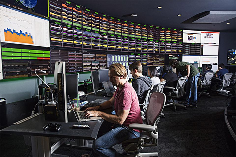 The Riot Games global control center in Los Angeles