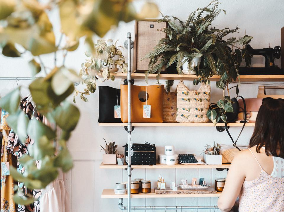 Faire is helping small businesses, like this clothing store in Los Angeles owned by designer Haley Solar, stock up on household items that are in high demand.