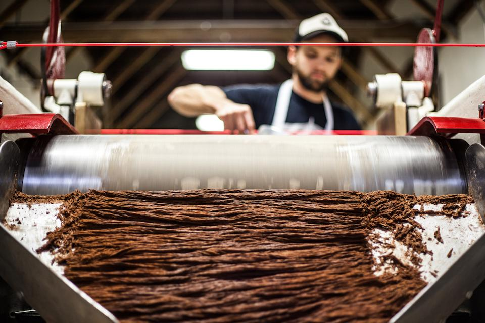 Bean-to-bar chocolate in the making