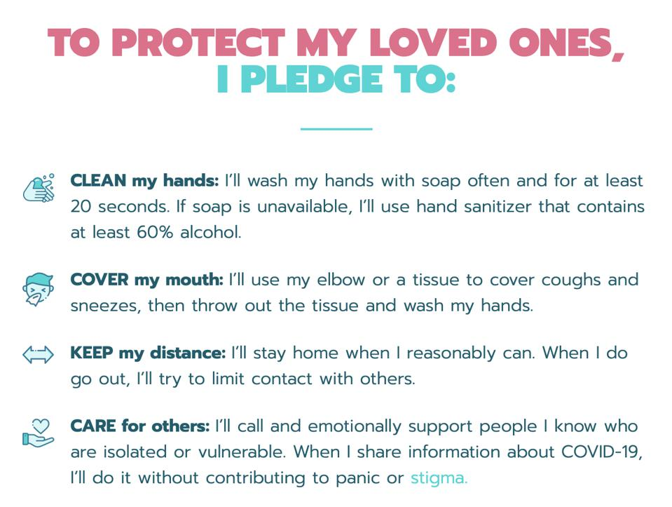 #StandAgainstCorona Pledge