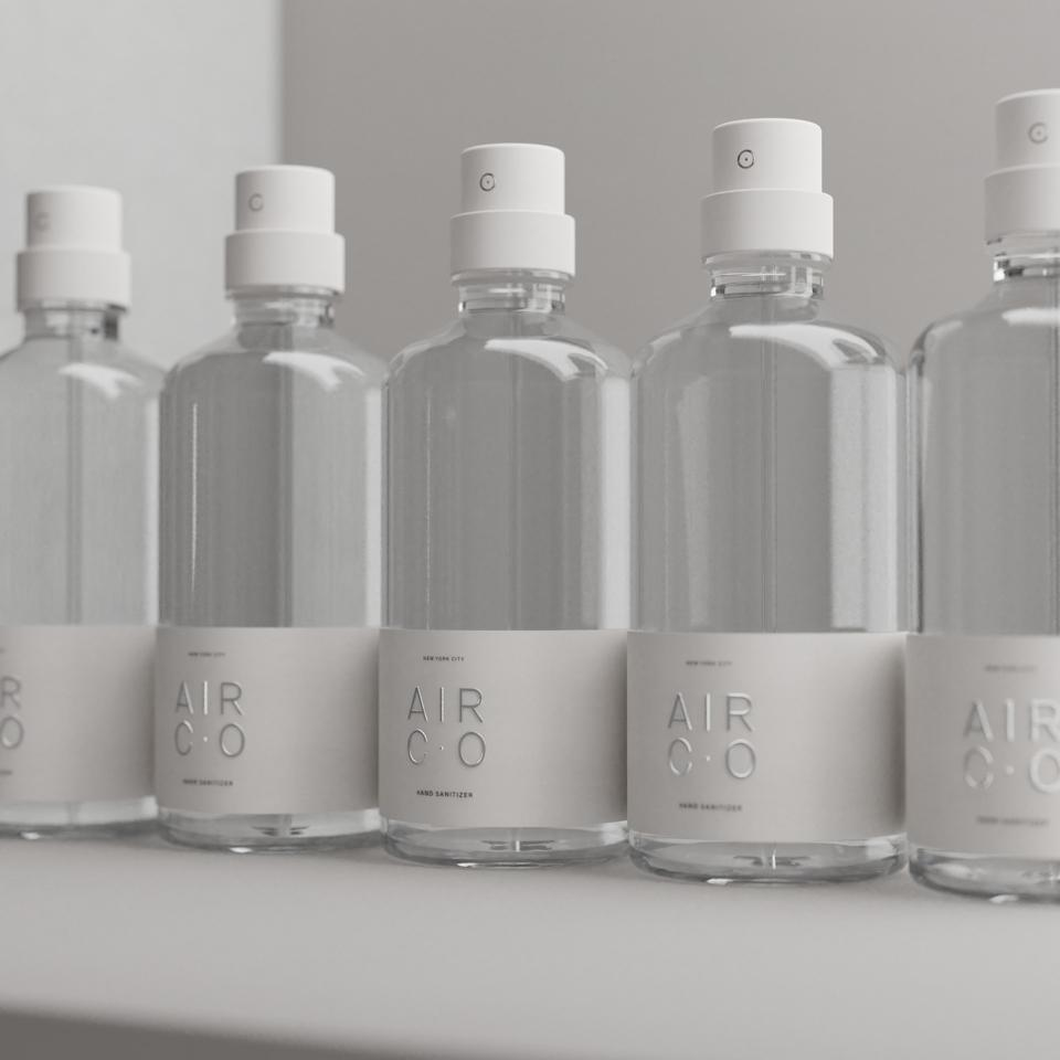 Air Co. in Brooklyn shifted from producing its high tech vodka to hand sanitizer