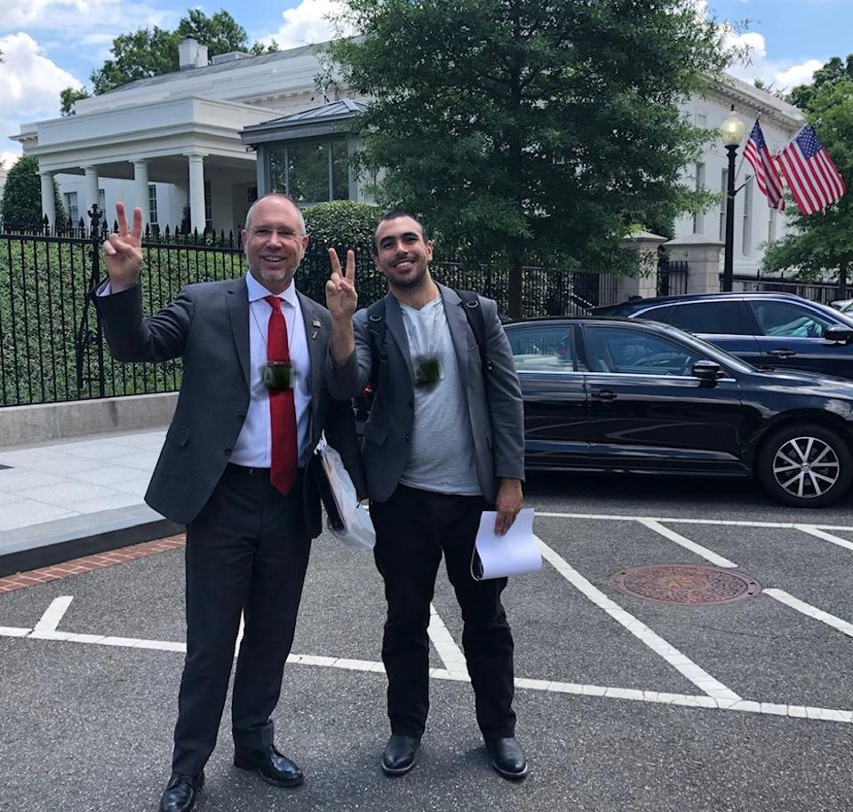 Greg Autry and Jordan Noone at the White House