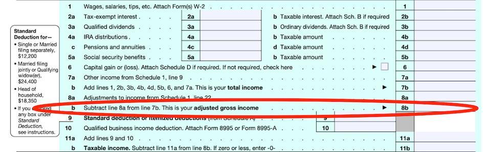 AGI, form 1040
