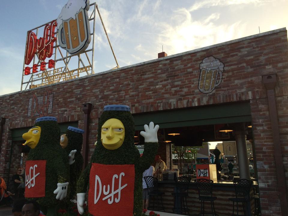Duff Beer Garden in Springfield USA