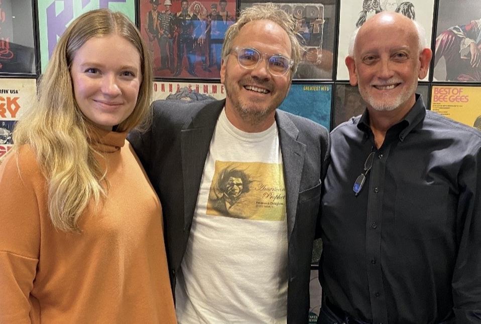 LBK Creative Director Mariah Topel, Songwriter & Composer Marcus Hummon, and LBK CEO Carl Kornmeyer