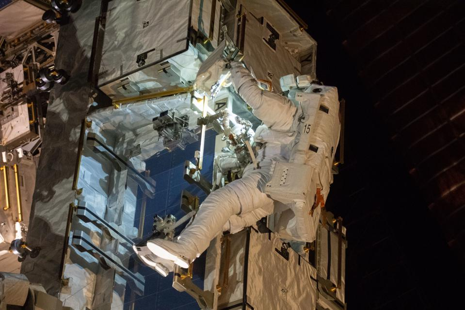 NASA spacewalker Nick Hague.