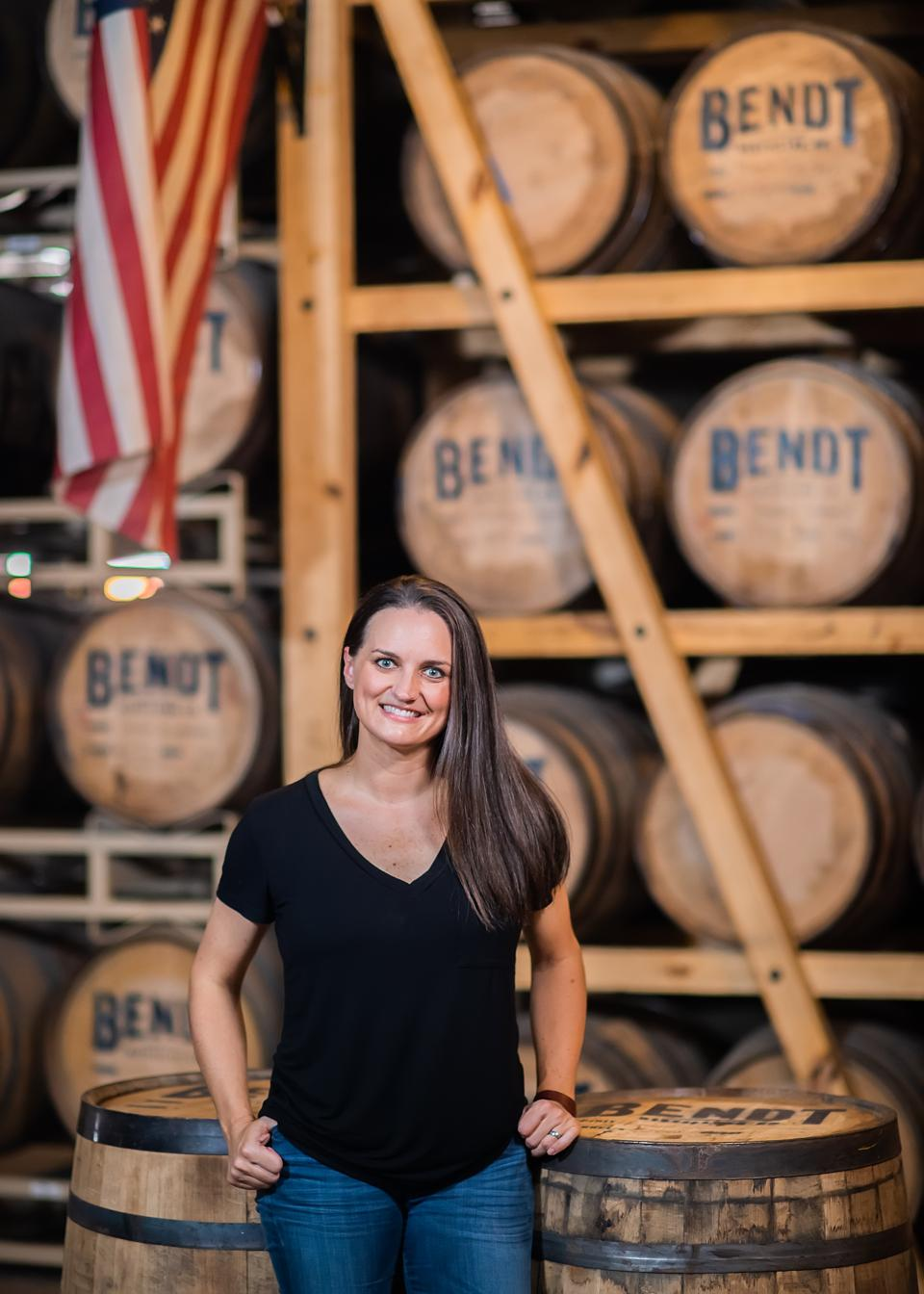 Natasha DeHart, co-owner of BENDT Distilling Co., is making hand sanitizer to donate to Dallas County hospitals and first responders.