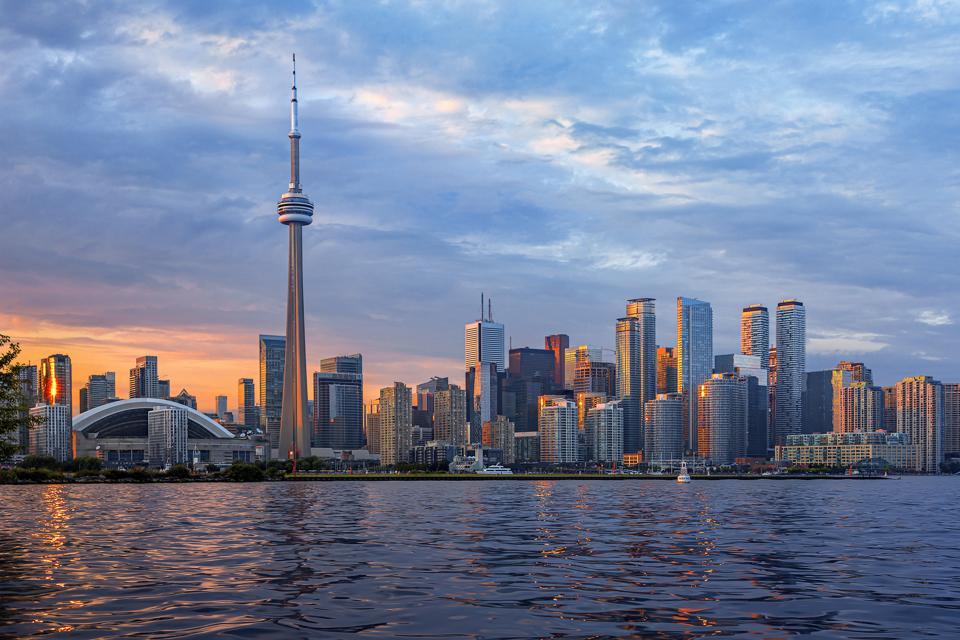 Toronto Skyline at Sunset, Canada