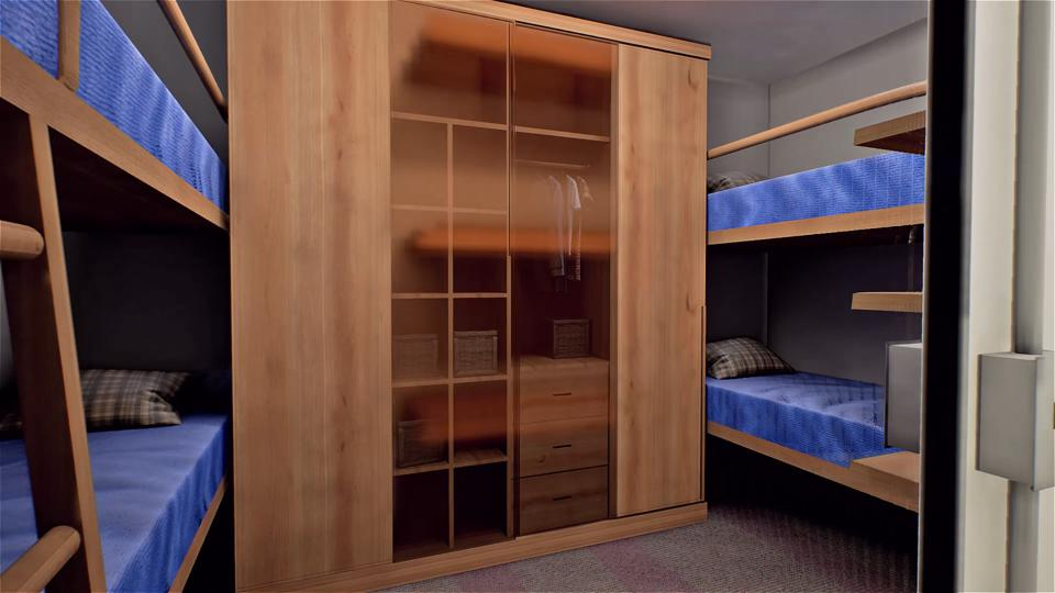 Double bunk rooms