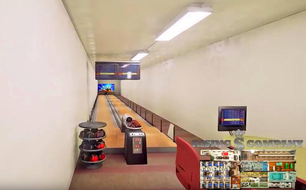 Bowling alley in the Aristocrat bunker