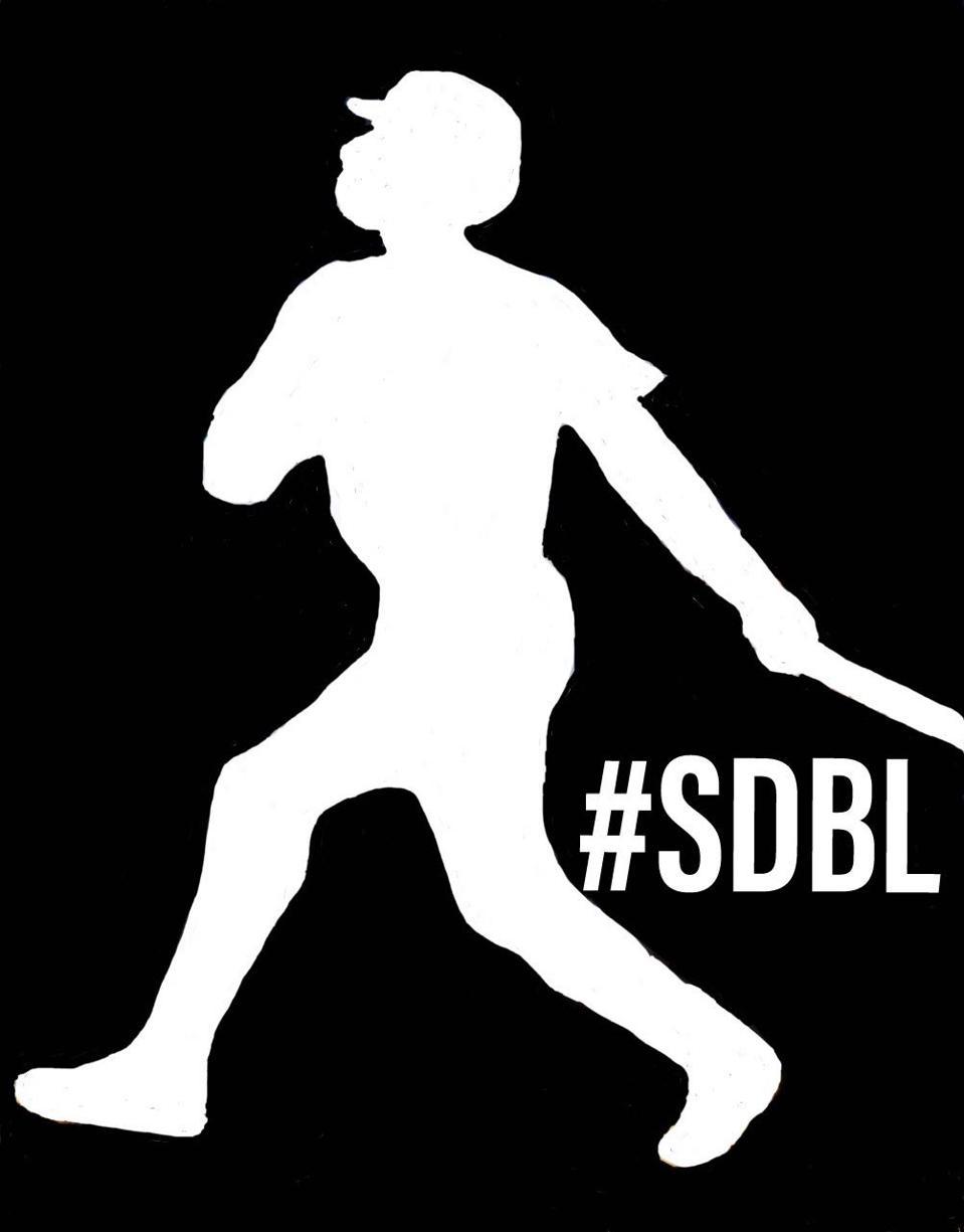 The Social Distancing Baseball League logo