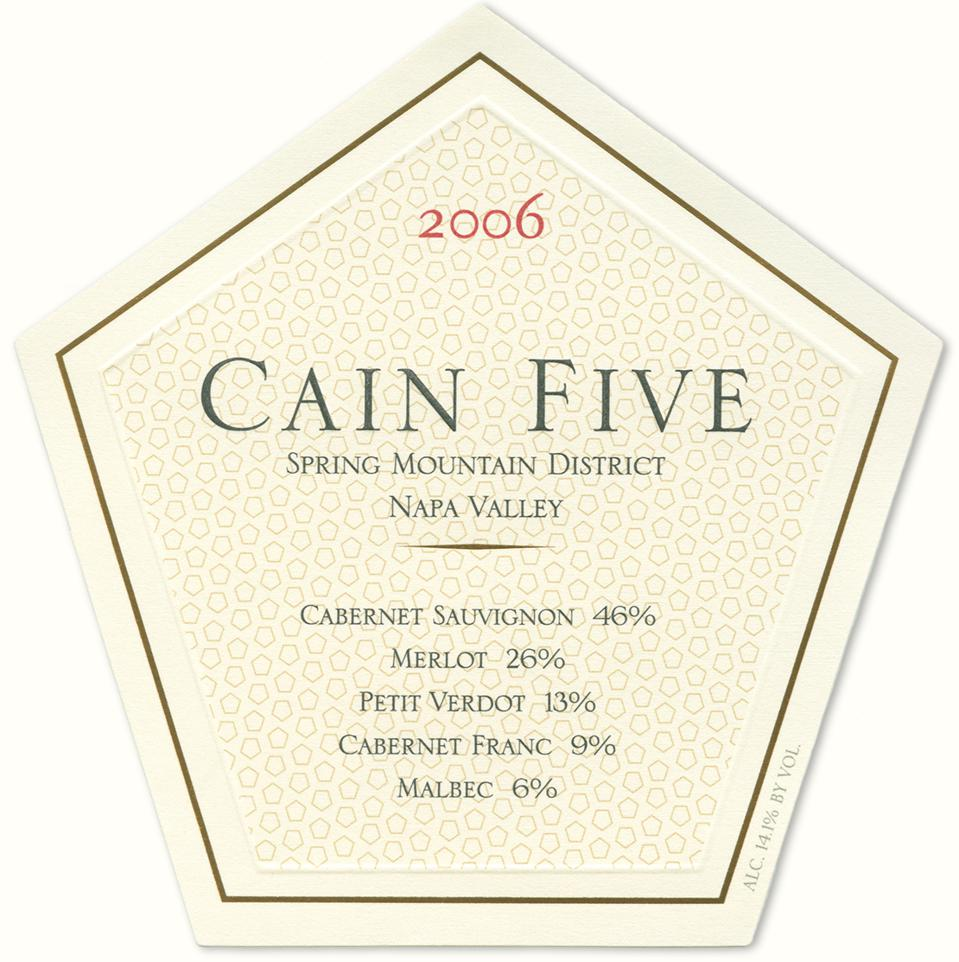2006 Cain Five - A blend of five red grape varieties