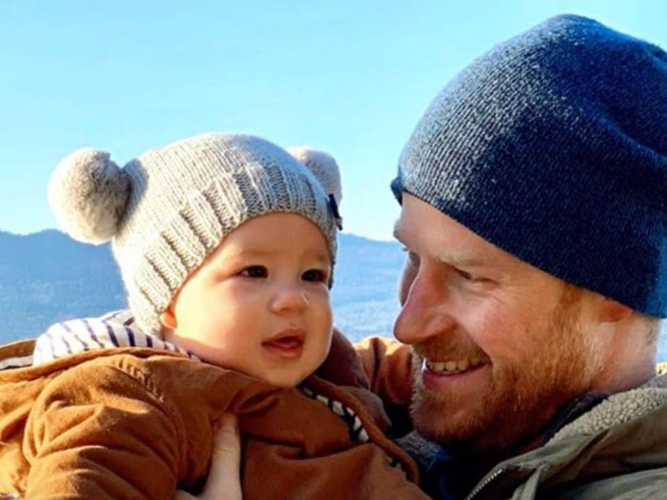 Prince Harry with Baby Archie