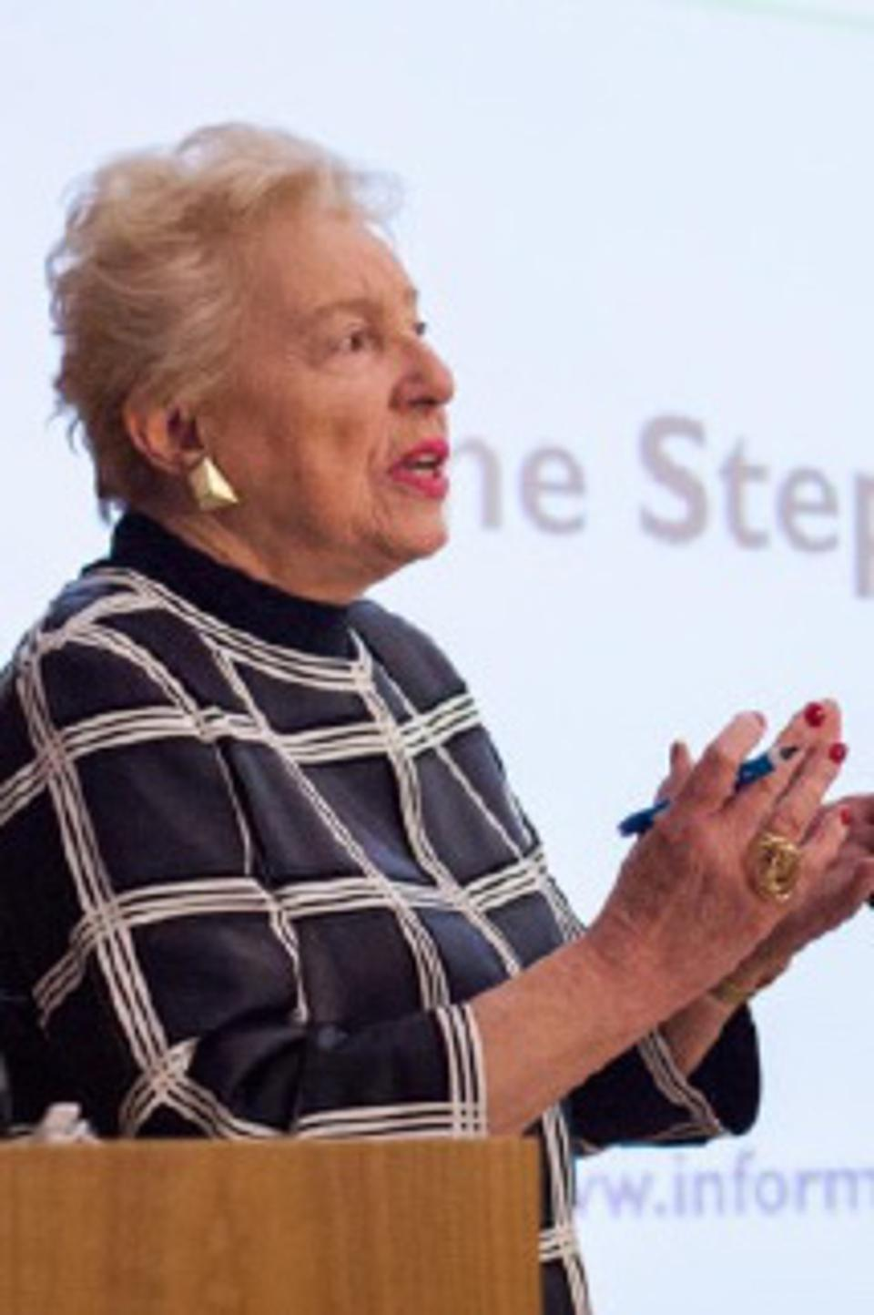 Dame Stephanie Shirley speaking
