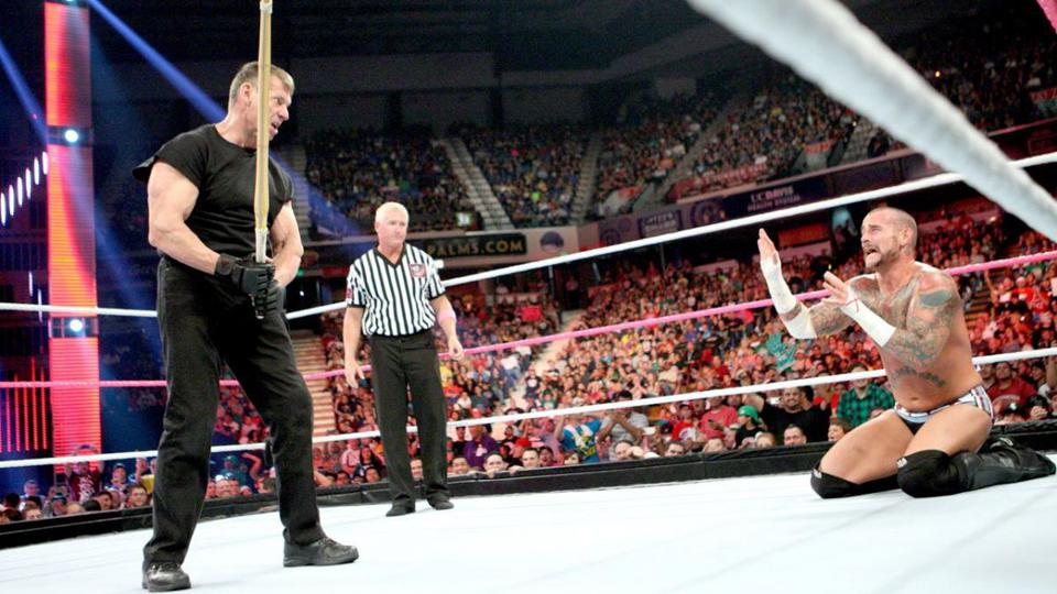 WWE Raw: Vince McMahon fights CM Punk
