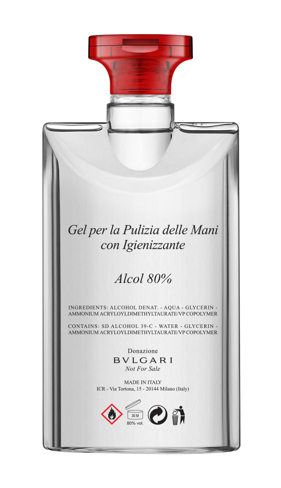 Bulgari and ICR Hand Cleansing Gel