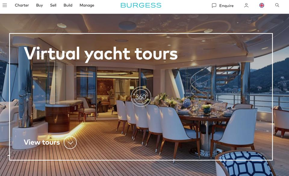 Burgess Yachts has a wealth of info and digital tours of some of the world's largest yachts for sale and chatrer.