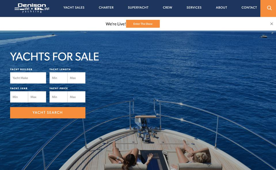 Denison Yachting is hosting a ″Virtual Boat Show″ today.
