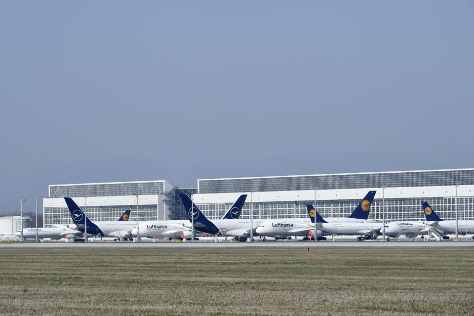 Airlines now have over 100 out-of-service aircraft parked at Munich Airport, Germany's second-largest. Unneeded infrastructure in the A, B and D areas of Terminal 1 and the Terminal 2 satellite facility have been temporarily shut down.